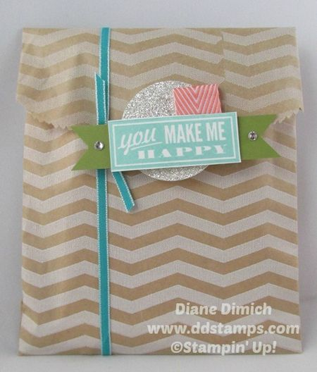 Stampin' Up! Hello Lovely gift bag