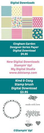 Stampin' Up! My Digital Studio Gingham Garden