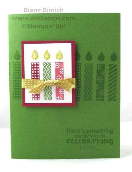 Stampin' Up! Birthday Candles Wheel Card
