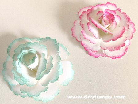 Using stampin ups blossom punch to make a paper flower ddstamps stampin up new catalog 053 mightylinksfo