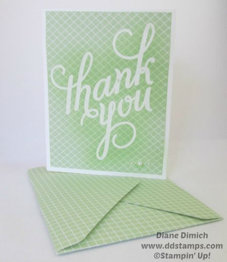 Stampin' Up! Another Thank-you photopolymer