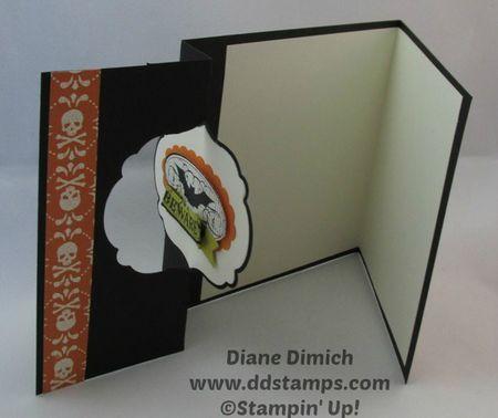 Stampin' Up! Halloween Bash Thinlit Greeting Card open