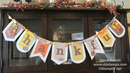 Stampin' Up! Build a Banner Thankful