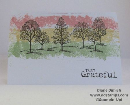 Stampin  up Lovely as a tree painters tape