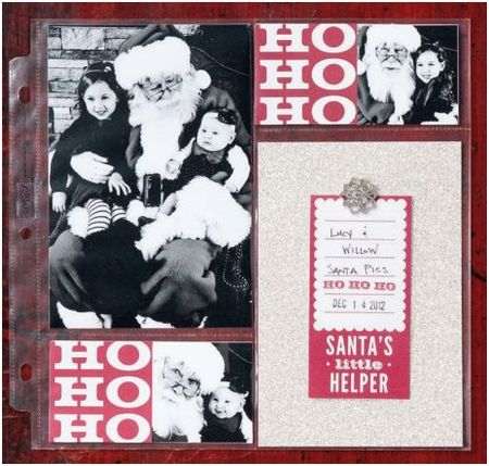 Stampin  up Seasons of style scrapbook page