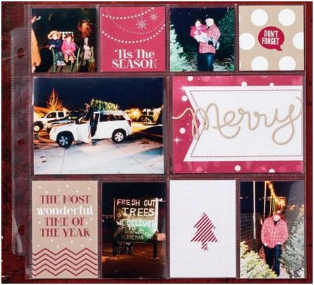 Stampin' Up! Seasons of style scrapbook pages