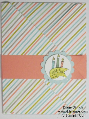 Stampin' Up! Another Birthday Envelope Punch Board Card 1