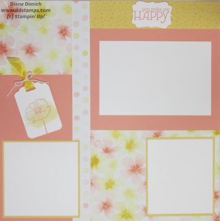 Stampin' Up! Happy Watercolor Scrapbook page