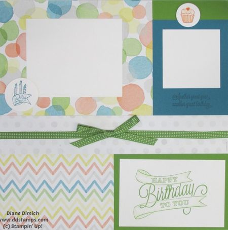 Stampin' Up! Another Great Year Scrapbook page